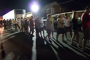 The Line for Back Door Donuts