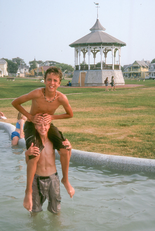 Boys playing in Ocean Park