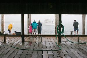 Fishing on Memorial Wharf