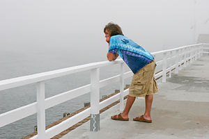 Andrew on Memorial Wharf Deck