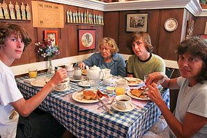 Family and Aggy at Edgartown Inn Breakfast