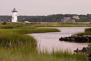 Edgartown Lighthouse from Beach