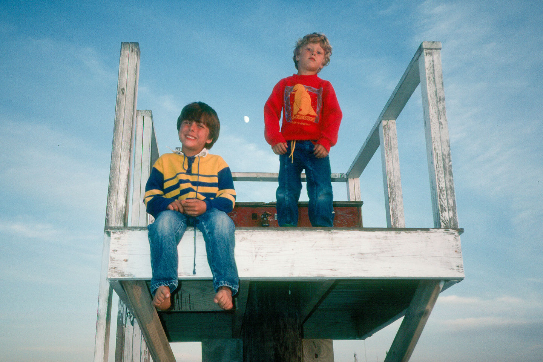 Boys on Lifeguard Tower