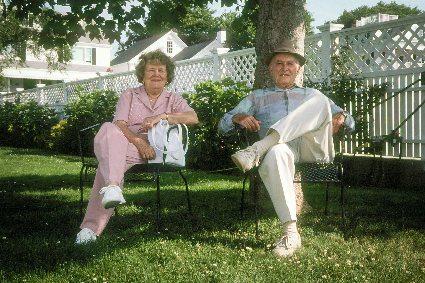 Hedy and Al on Lawn of Daggett House