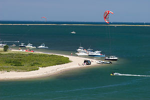 Kite Boarders at the Gut