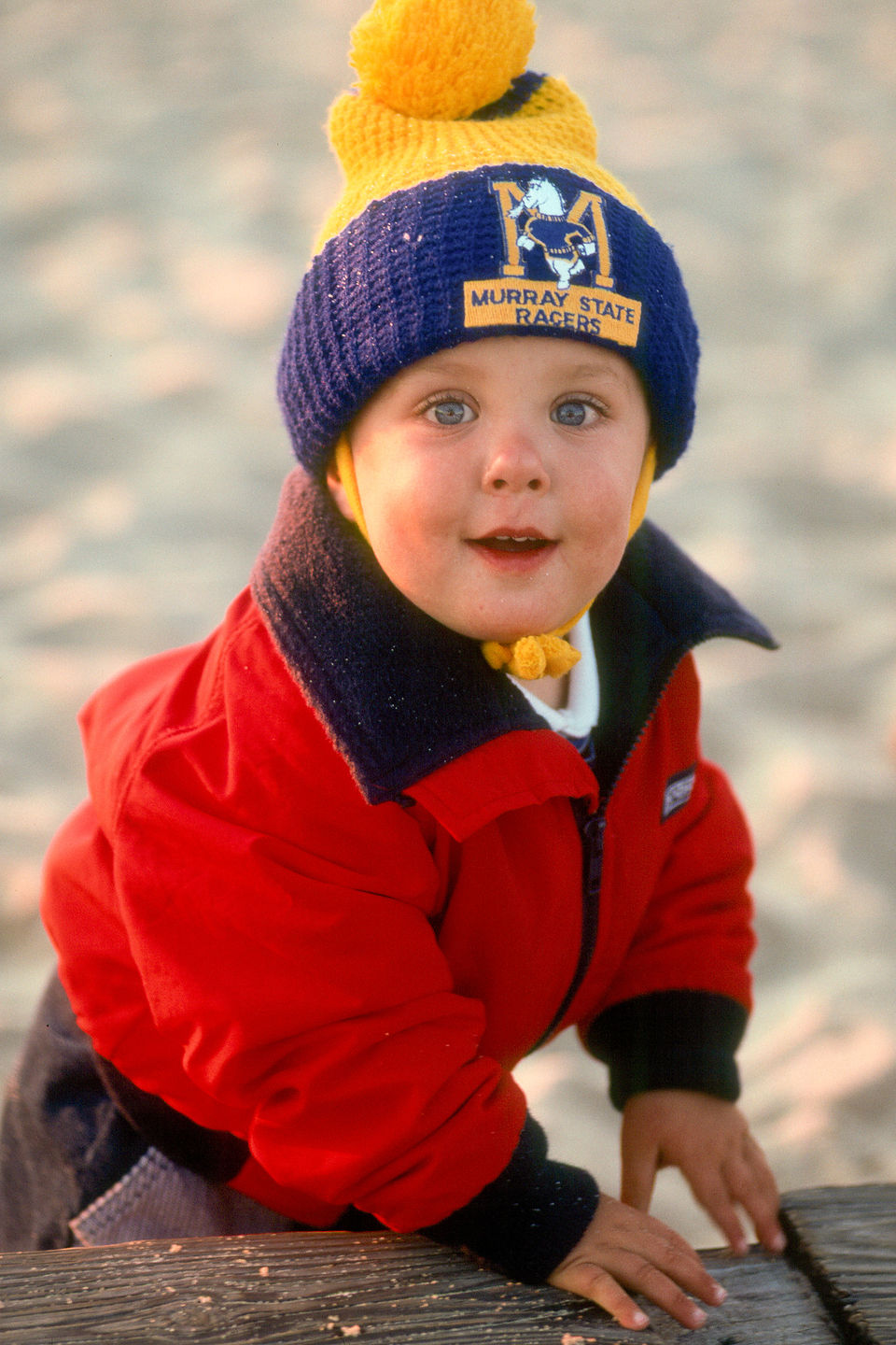 Young Andrew at Menemsha Beach