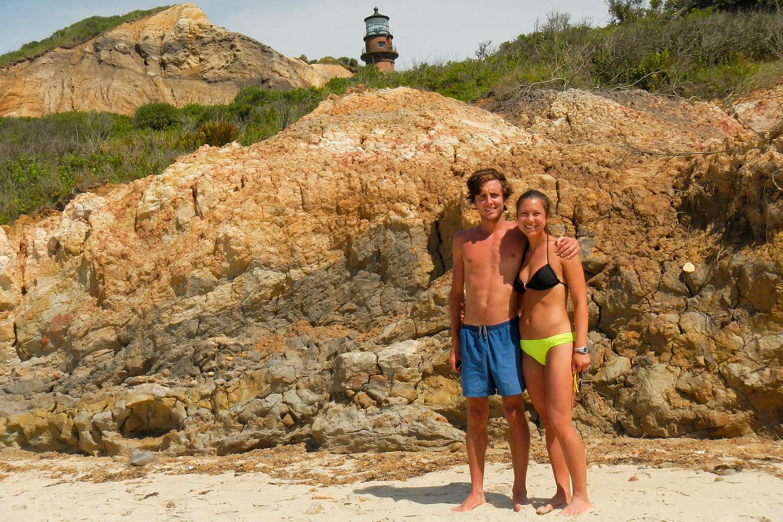 Andrew and Celeste at Moshup Beach - LEG