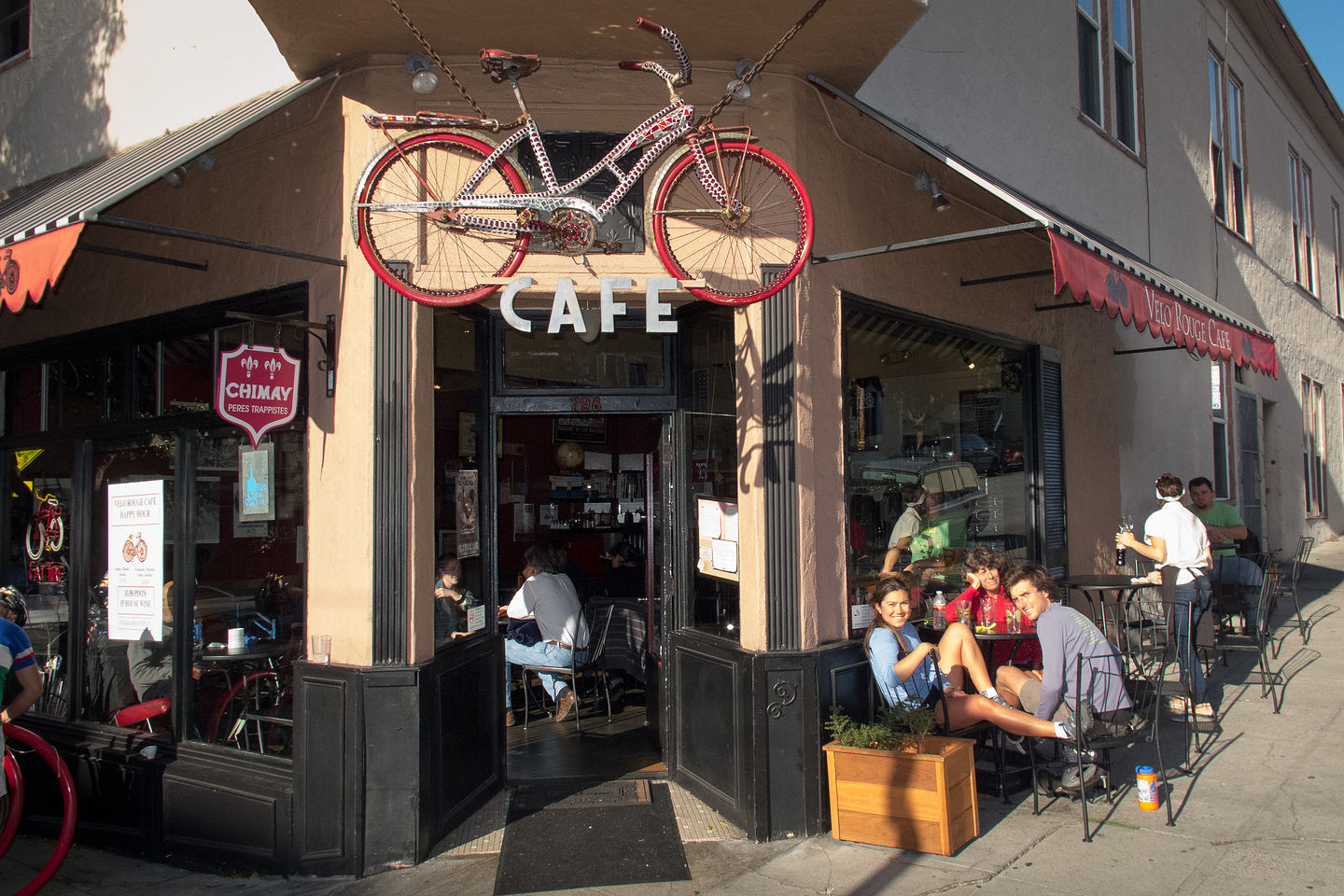 Beers at the Velo Rouge Cafe
