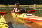 Lolo in her Kayak at the South Slough National Estuary
