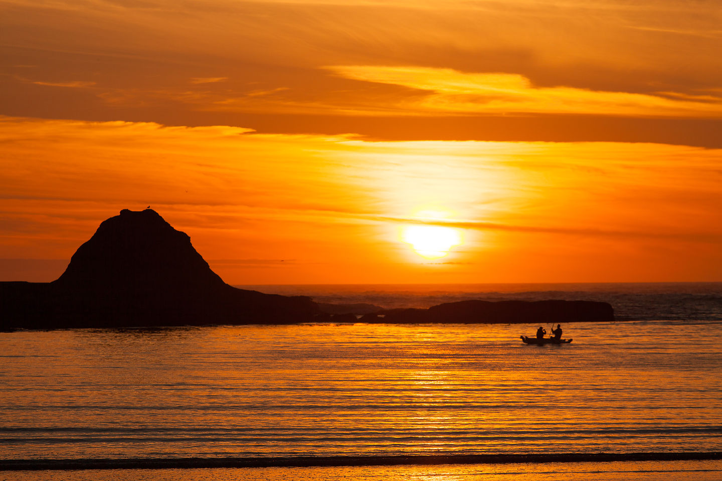 Boaters at Sunset Bay