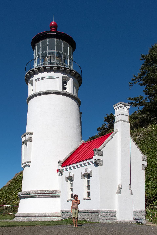 Lolo at Base of Heceta Head Lighthouse