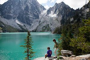 Lolo and Tom at Colchuck Lake