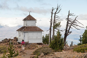 Lolo Approaching Black Butte Lookout Cabin