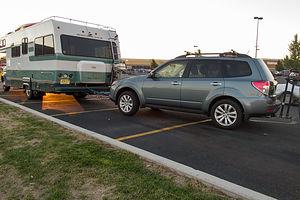 Camping at Klamath Falls Walmart