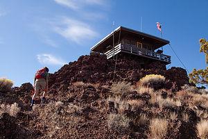 Hiking to Schonchin Butte Lookout