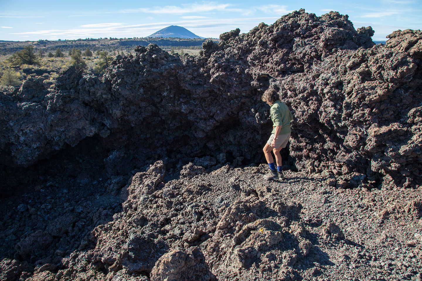 Lolo Approaching Black Crater