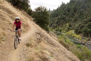 Lolo Biking the Lake Clementine Trail