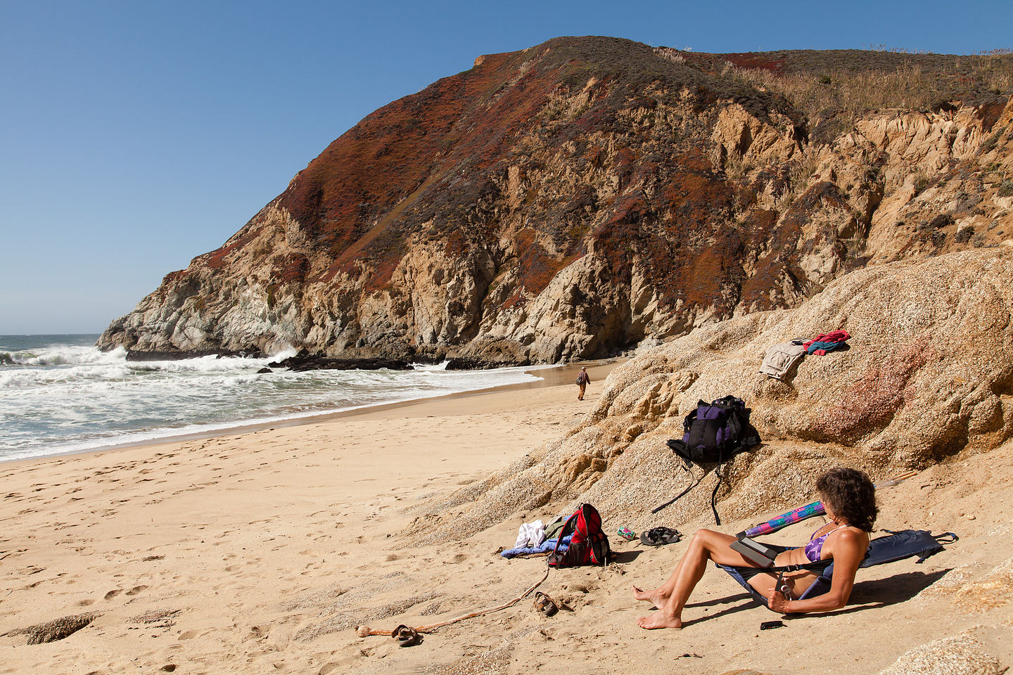 Lolo at Gray Whale Cove State Beach