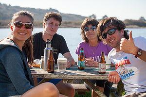 Post Hike Beers at Cafe Aquatica