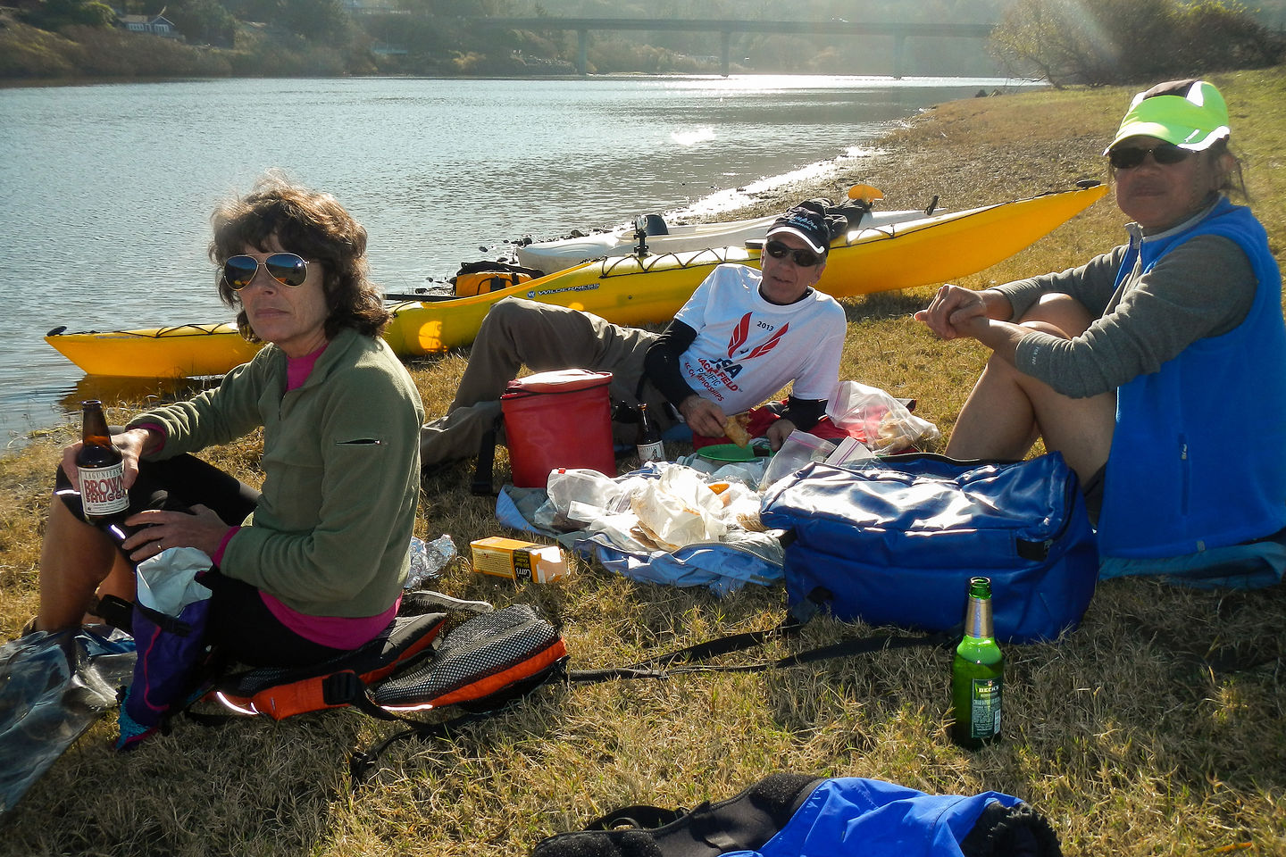 Russian River Kayakers Lunching