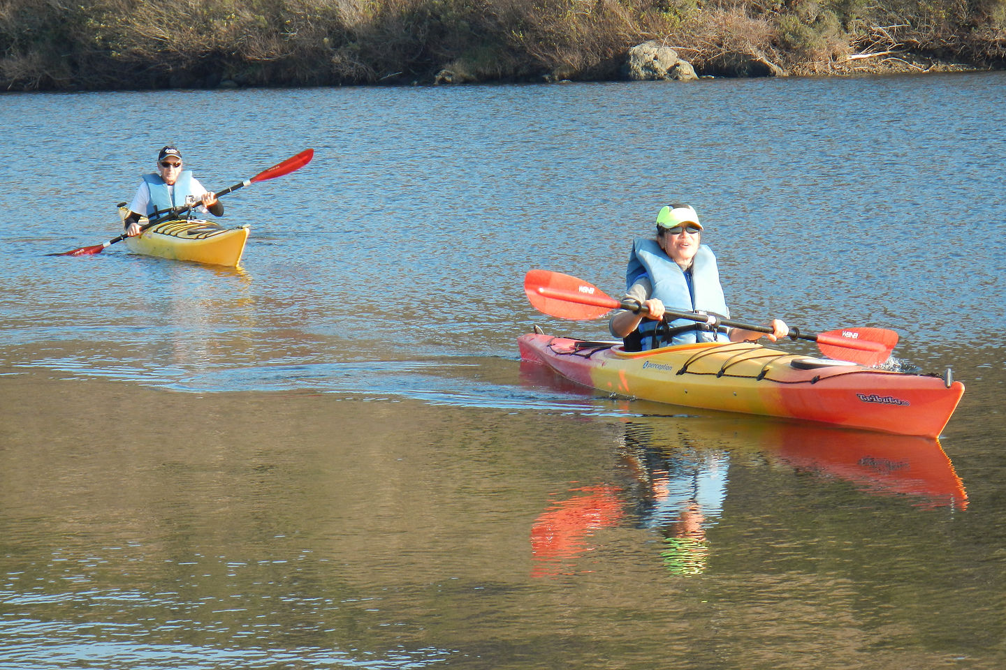 Hilda and Paul on a Test Paddle