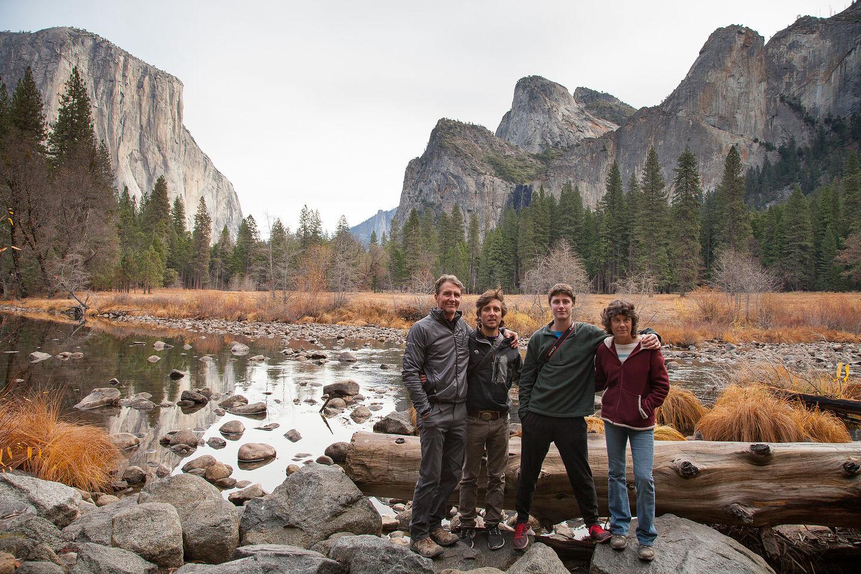 Family Photo with El Capitan