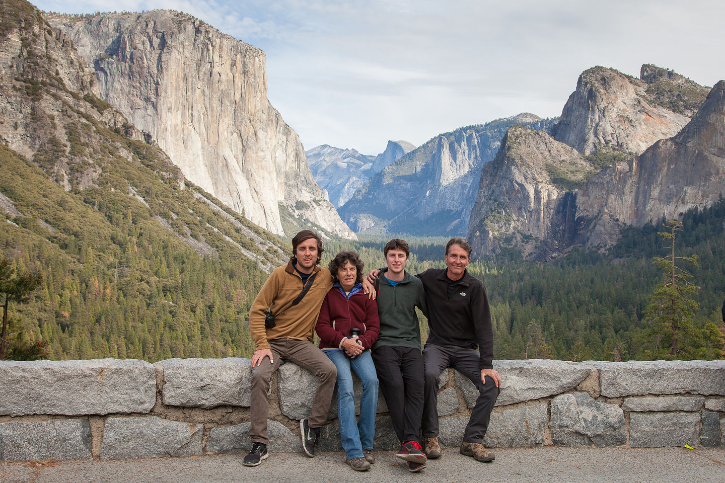 Family Photo at Tunnel View