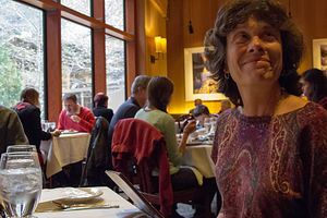 Lolo Glowing during the Mountain Room Thanksgiving Dinner