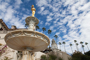 Hearst Castle Gold Girl in Fountain