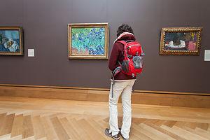 Lolo with Van Gogh's Irises
