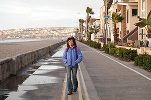 Lolo on Mission Beach Boardwalk