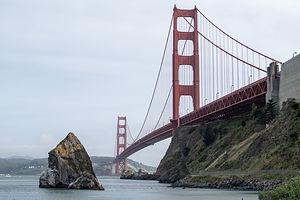 Golden Gate Bridge before Climb out on Bikes
