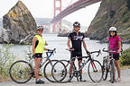 Tiburon Bikers before final climb to finish
