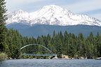 Wagon Creek Bridge with Mount Shasta