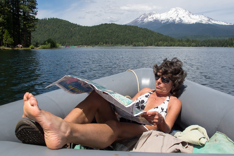 Lolo Navigating the Perimeter of the Lake