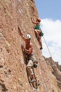 Herb and Celeste Climbing