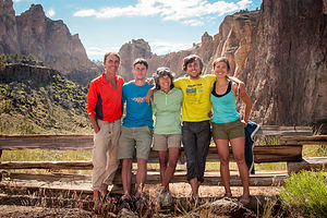 Gaidus Family and Celeste at Smith Rock