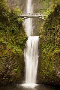 Multnomah Falls with Benson Bridge