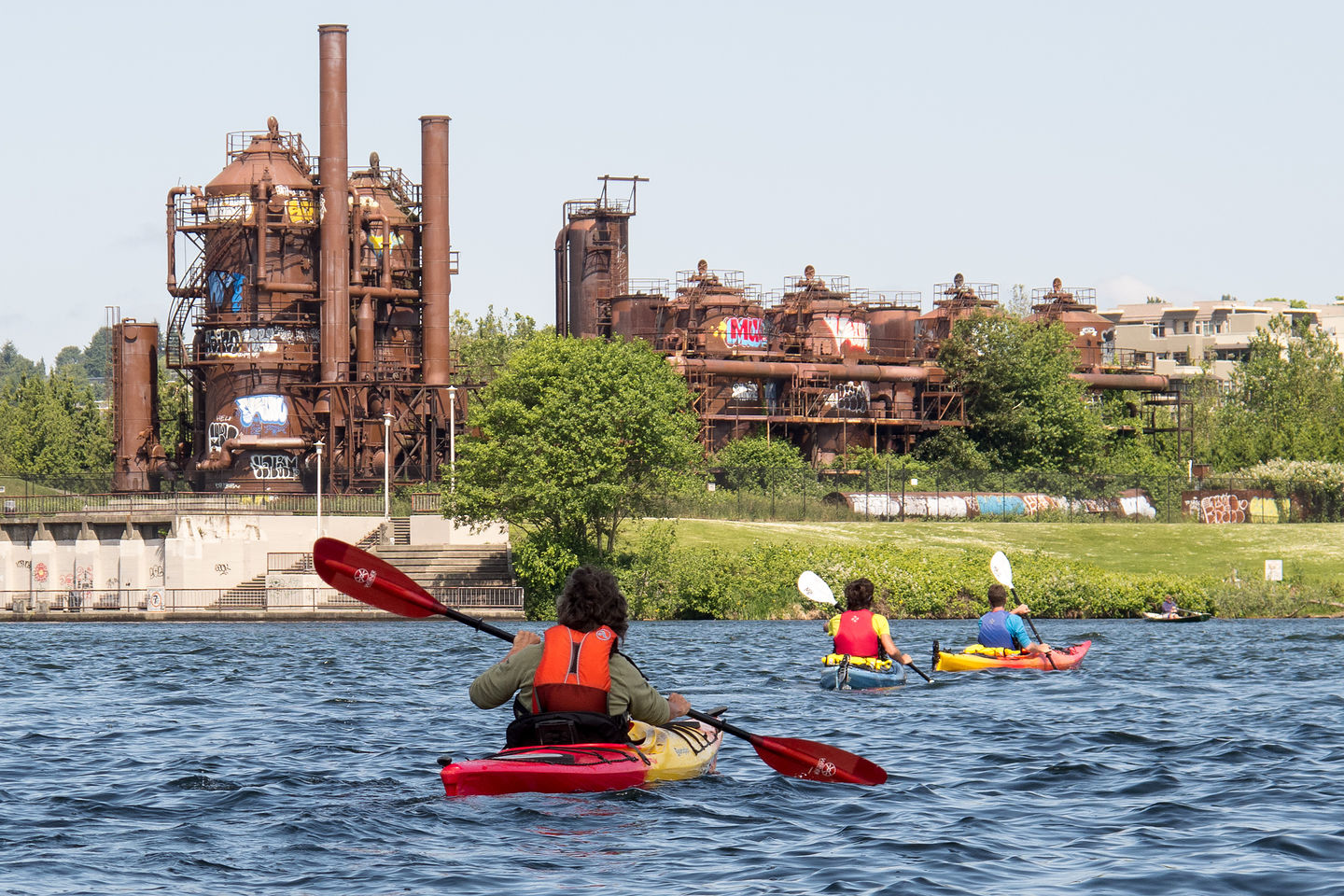 Approaching Gas Works Park Via Kayak Lolo S Extreme