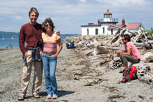 Lolo, Herb, and Andrew at West Point Lighthouse