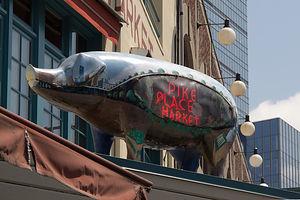 Pike Place Market Pig Sculpture