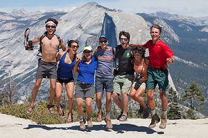 Sentinel Dome Jumping Hikers