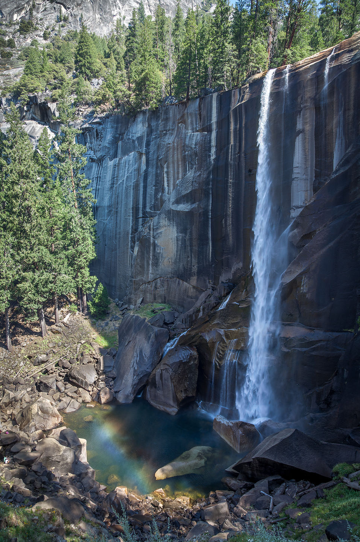 Vernal Falls with Rainbow at Base