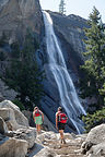 Nevada Falls with Hikers