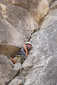 Tommy on Lead at the Manure Buttress