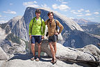 Boys at North Dome with Half Dome
