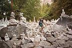 Herb in Rock Cairn Sculpture Garden
