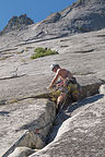 Tommy on Lead at Glacier Point Apron