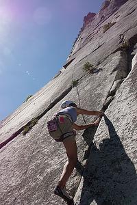 Lolo Climbing at Glacier Point Apron