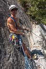 """Herb Belaying at First Pitch of """"Harry Daley"""""""